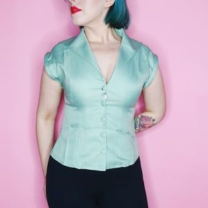 banned Tops - 40s Style Button Up Blouse